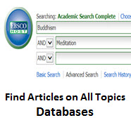 Find Articles on All Topics - Databases