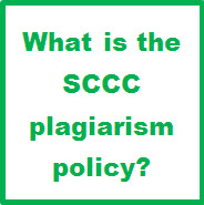 What is the SCCC plagiarism policy?