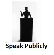Speak Publicly