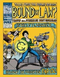 Front cover of comic book about copyright