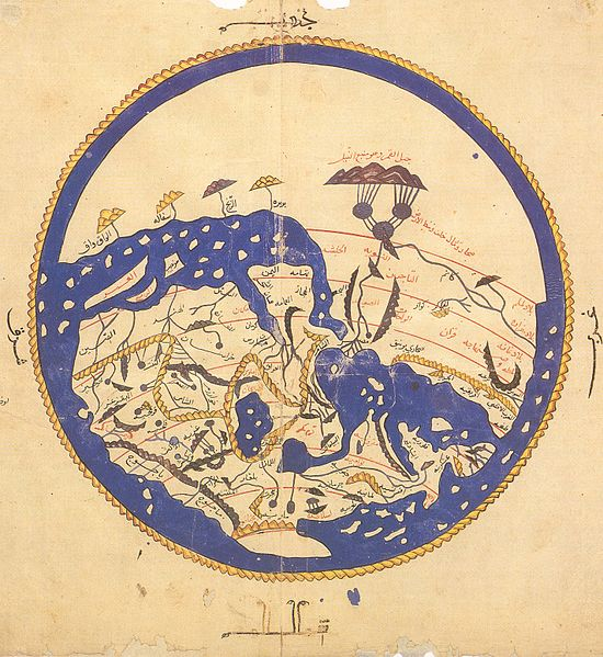 map of the world, Muhammad al-Idrisi, ca. 1469