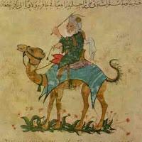 Ibn Battuta riding a camel