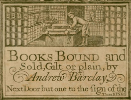 bookseller's card