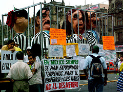 demonstration in Mexico, 2005