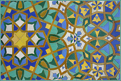 mosaic detail, Mosque Hassan II in Casablanca