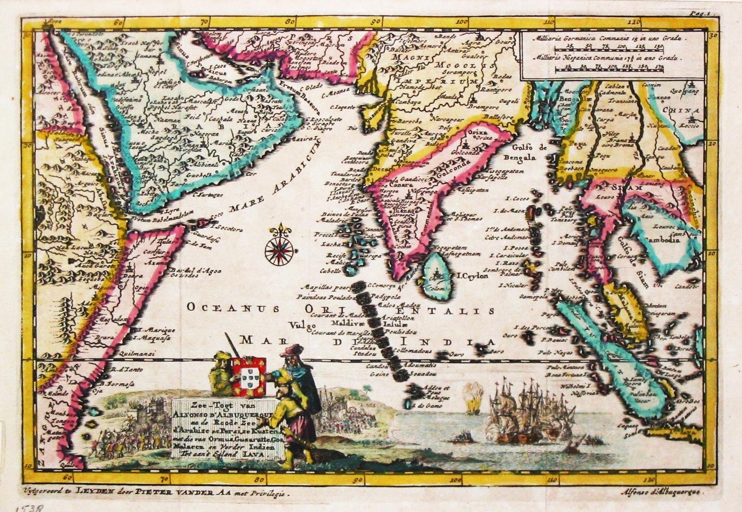 antique map of Indian Ocean, P. Van der Aa