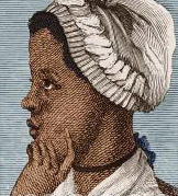portrait of Phyllis Wheatley, early African American writer