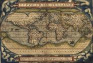 "Ortelius World Map ""Typvs Orbis Terrarvm"" 1570."