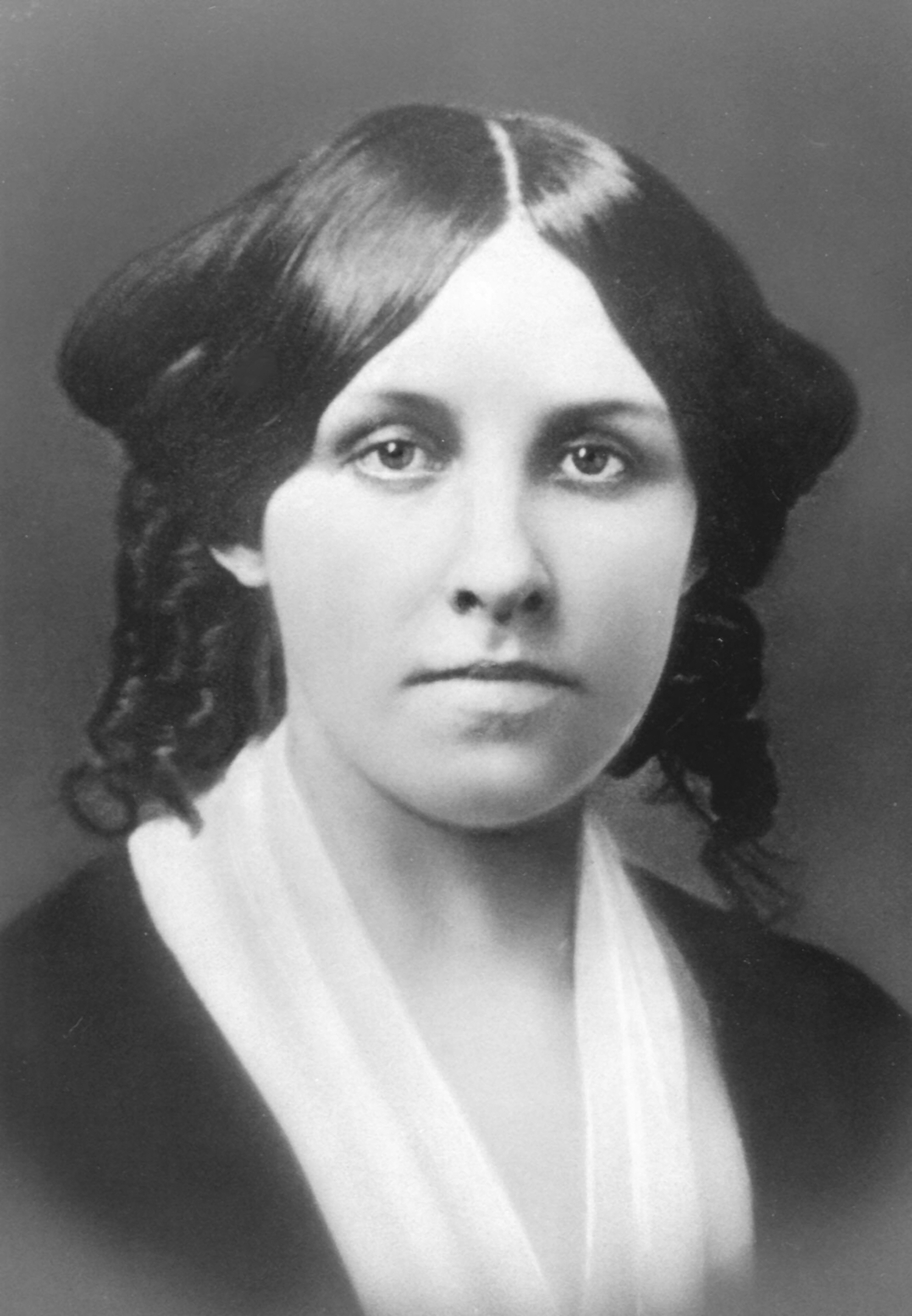 Photo of Louisa Alcott in her mid-twenties