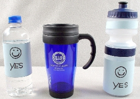 Approved beverage containers must have a secure lide