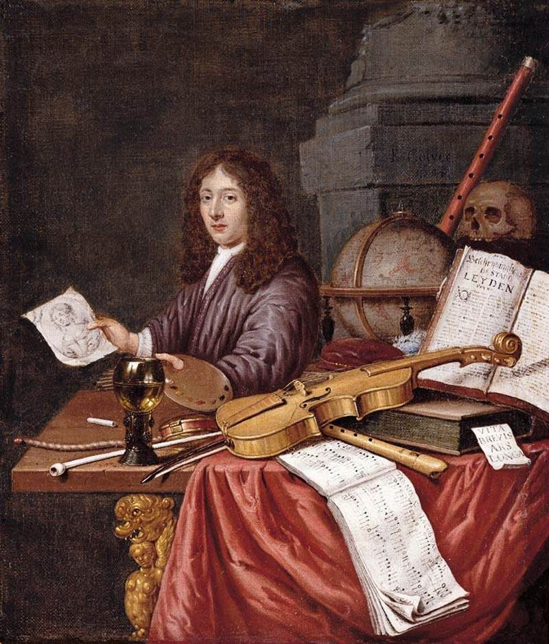 Evert Collier's Self-Portrait with a Vanitas Still-life, 1684 (courtesy Wikimedia Commons)