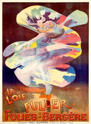 Poster for Loie Fuller at the Folies Bergere (courtesy Wikimedia Commons)