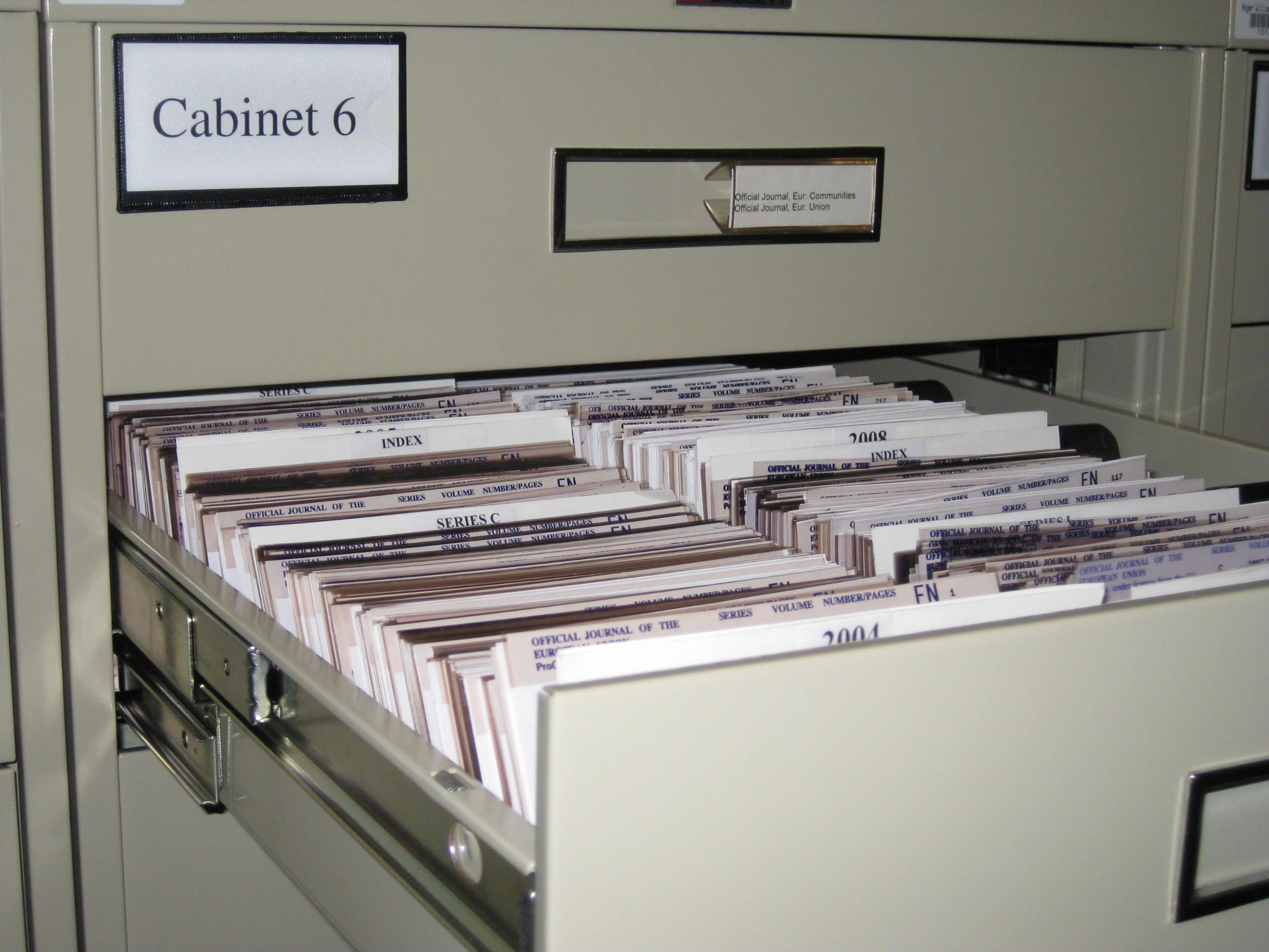 Microfiche Drawer