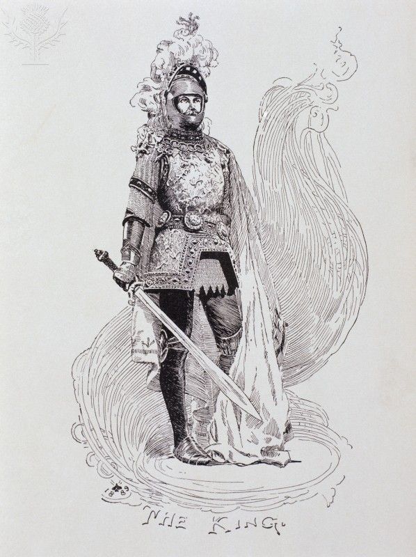 The King (Arthur) (From a Connecticut Yankee In King Arthur's Court) Artist Unknown Painting Details: 1889 - illustration - Newberry Library, Chicago, Illinois, USA
