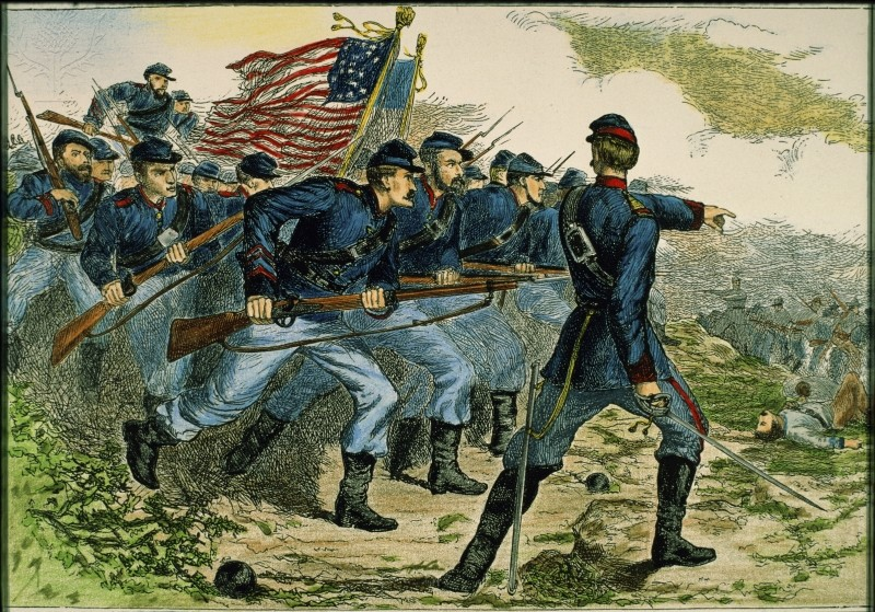 Charge of the Federals at Corinth U.S. Civil War, 1862 (from Britannica ImageQuest)