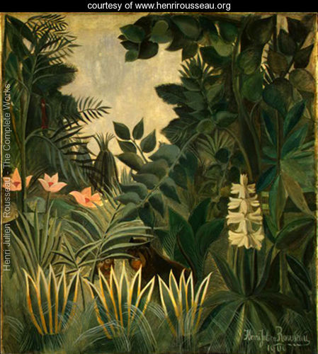 Henry Rousseau jungle painting