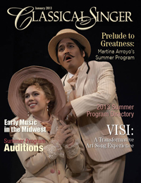 Classical Singer Magazine cover