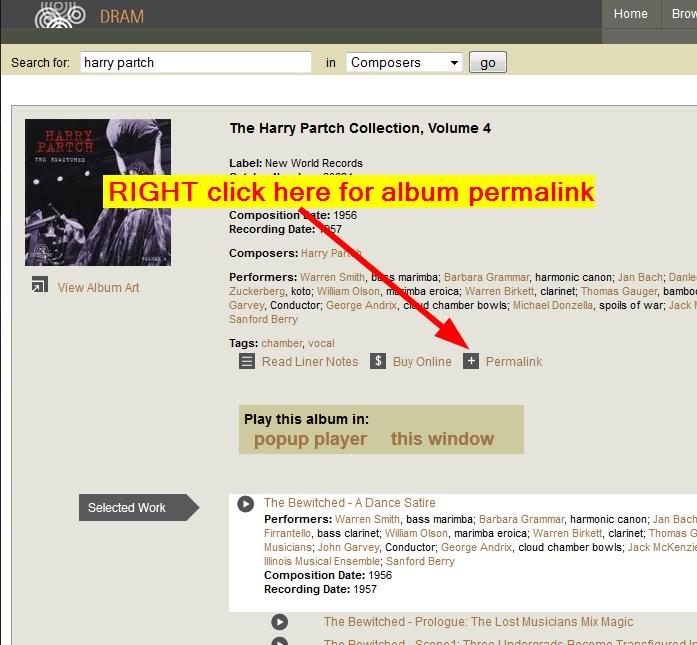 Album permalink screenshot