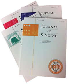 Journal of Singing cover