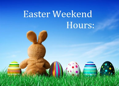 Libraries will be closed for Easter weekend, April 19-22.
