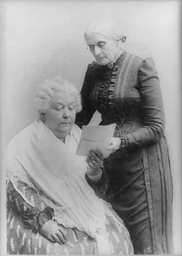 """""""Elizabeth Cady Stanton with Susan B. Anthony."""" Library of Congress. Prints and Photographs Division. American History Online. Facts On File, Inc. http://www.fofweb.com/activelink2.asp?"""