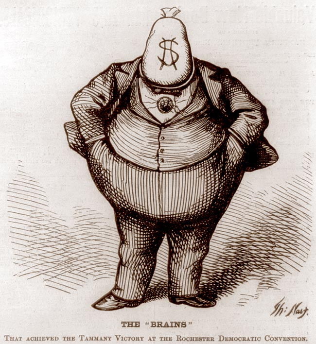 """Boss Tweed Cartoon."" Library of Congress. Prints and Photographs Division. American History Online. Facts On File, Inc. http://www.fofweb.com/activelink2.asp?"
