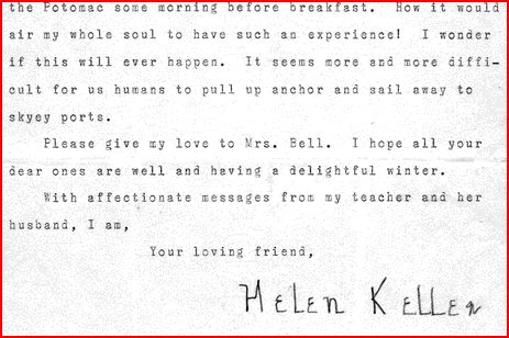 Letter from Helen Keller to Alexander Graham Bell