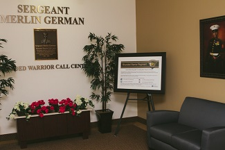 Sgt Merlin German Wounded Warrior Call Center waiting area