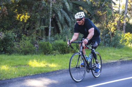 Wounded warrior on bicycle