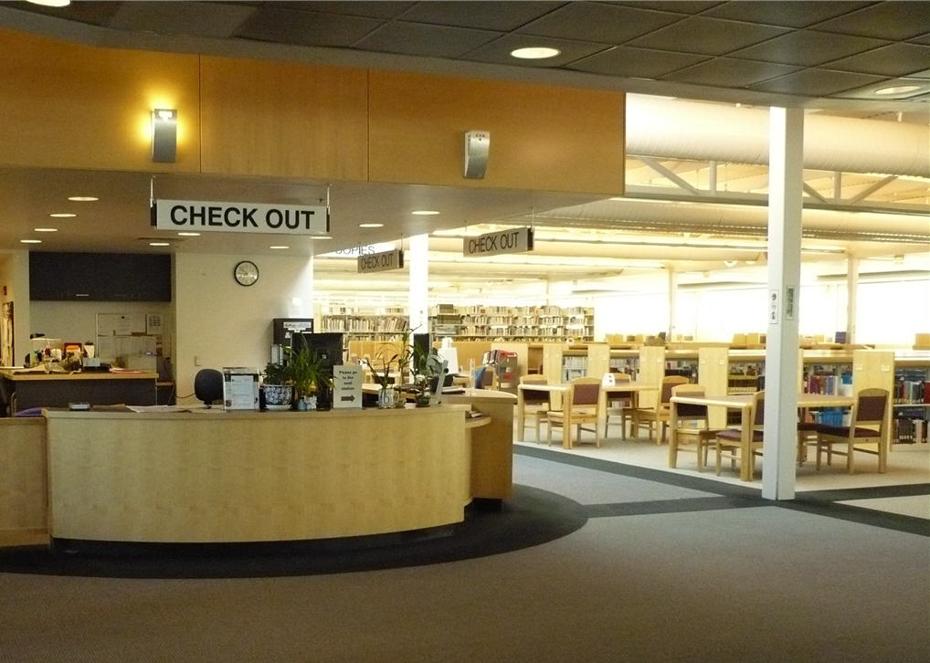 Mission College Library Check Out Desk