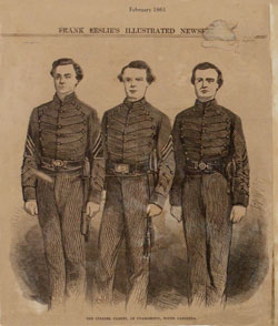 The Citadel Cadets 1861 from Frank Leslie's Illustrated News