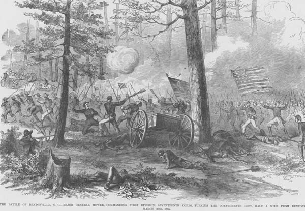 Painting of Battle of Bentonville, N.C.