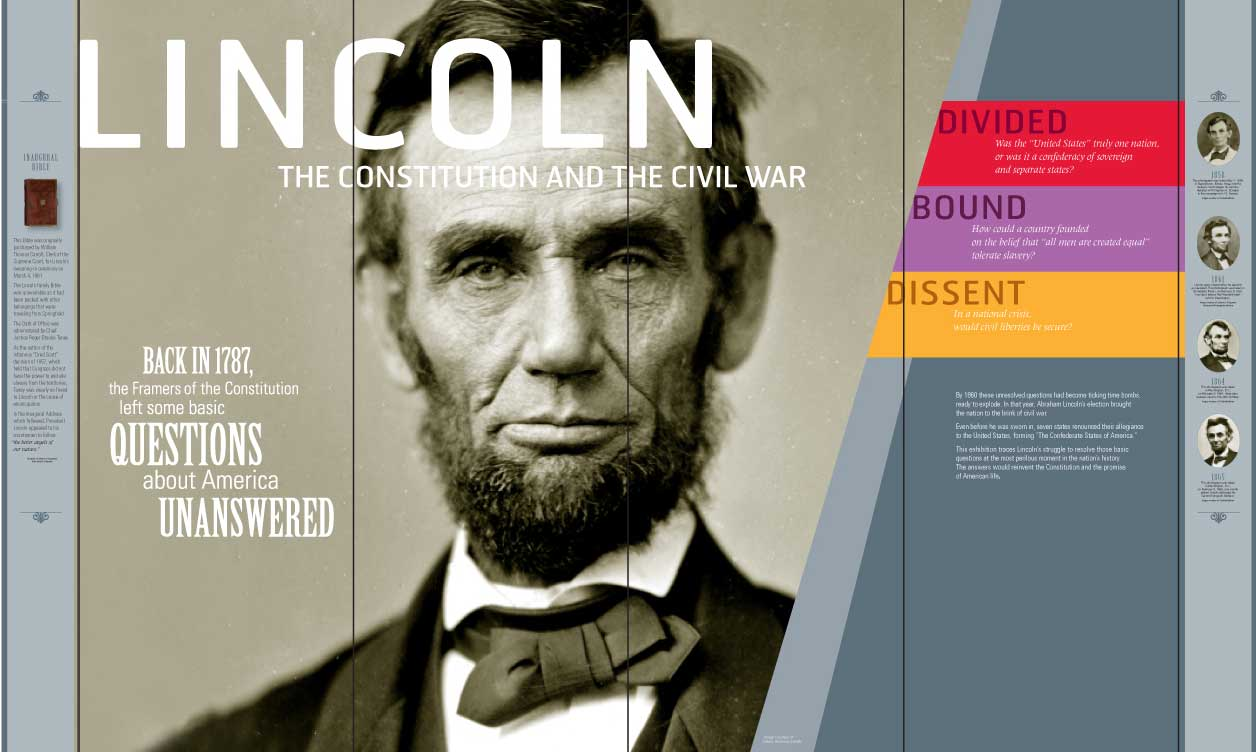 lincoln: the constitutional and the civil war display