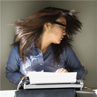 Girl at Typewriter