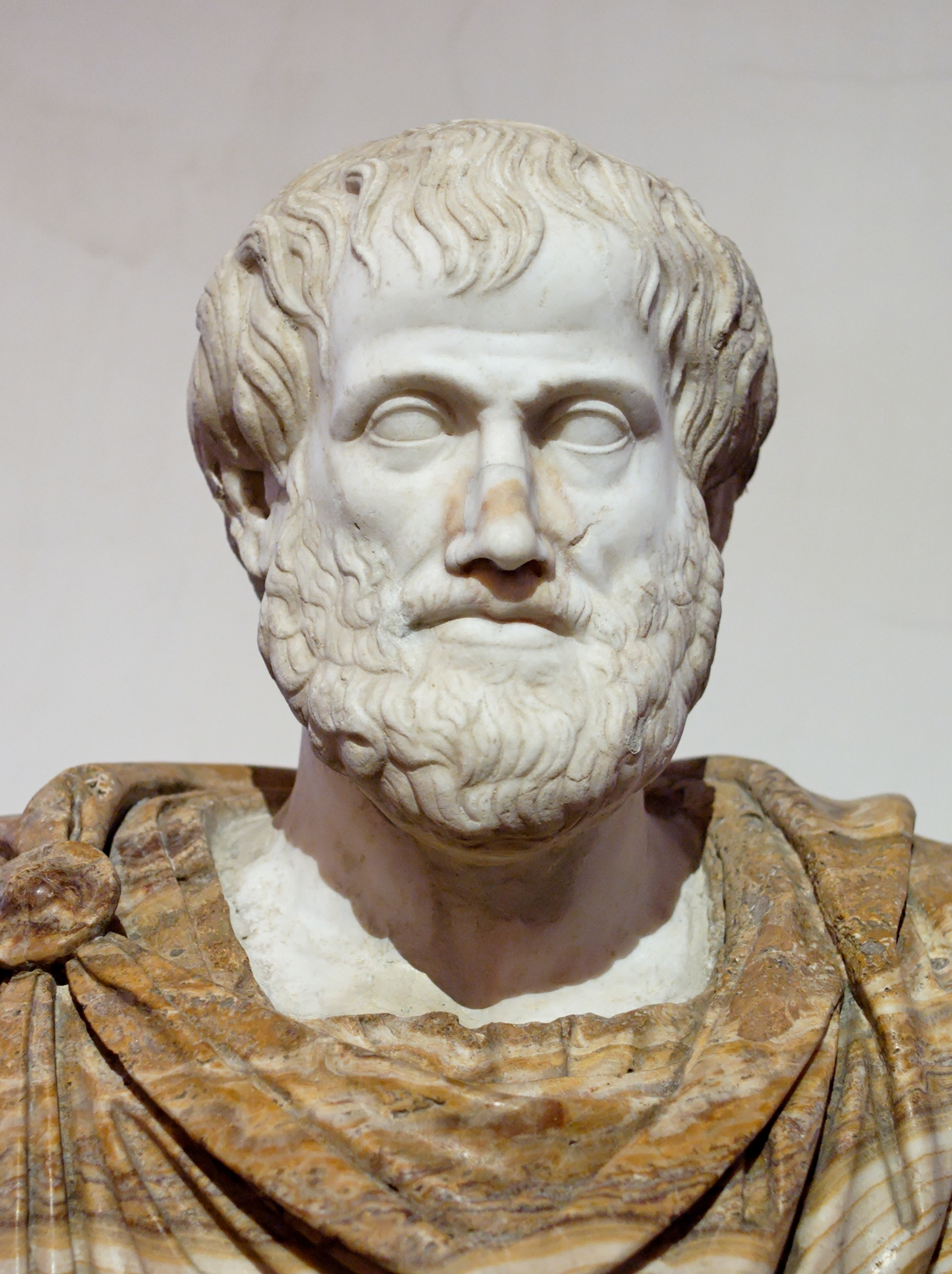 Image of the bust of Aristotle