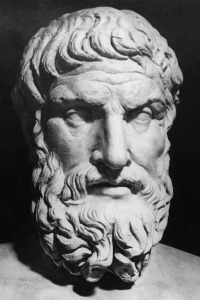 Image of bust of Epicurus