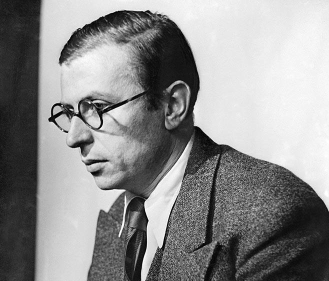 Photograph of Jean Paul Sartre