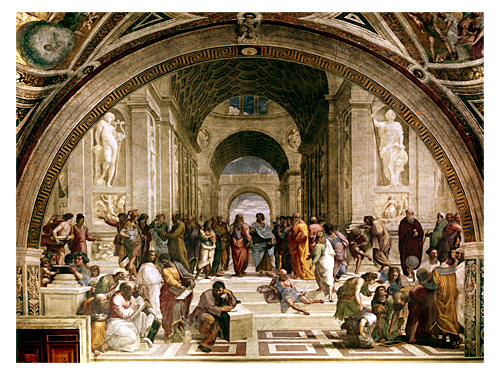 "image of the painting ""School of Athens"" by Raphael"