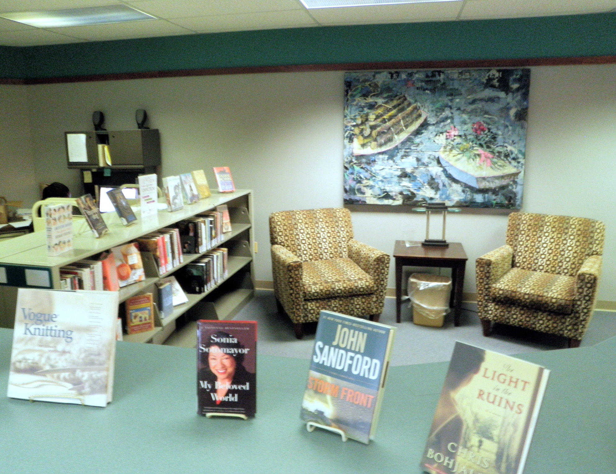 Image of the popular reading area at the Hutchins library.