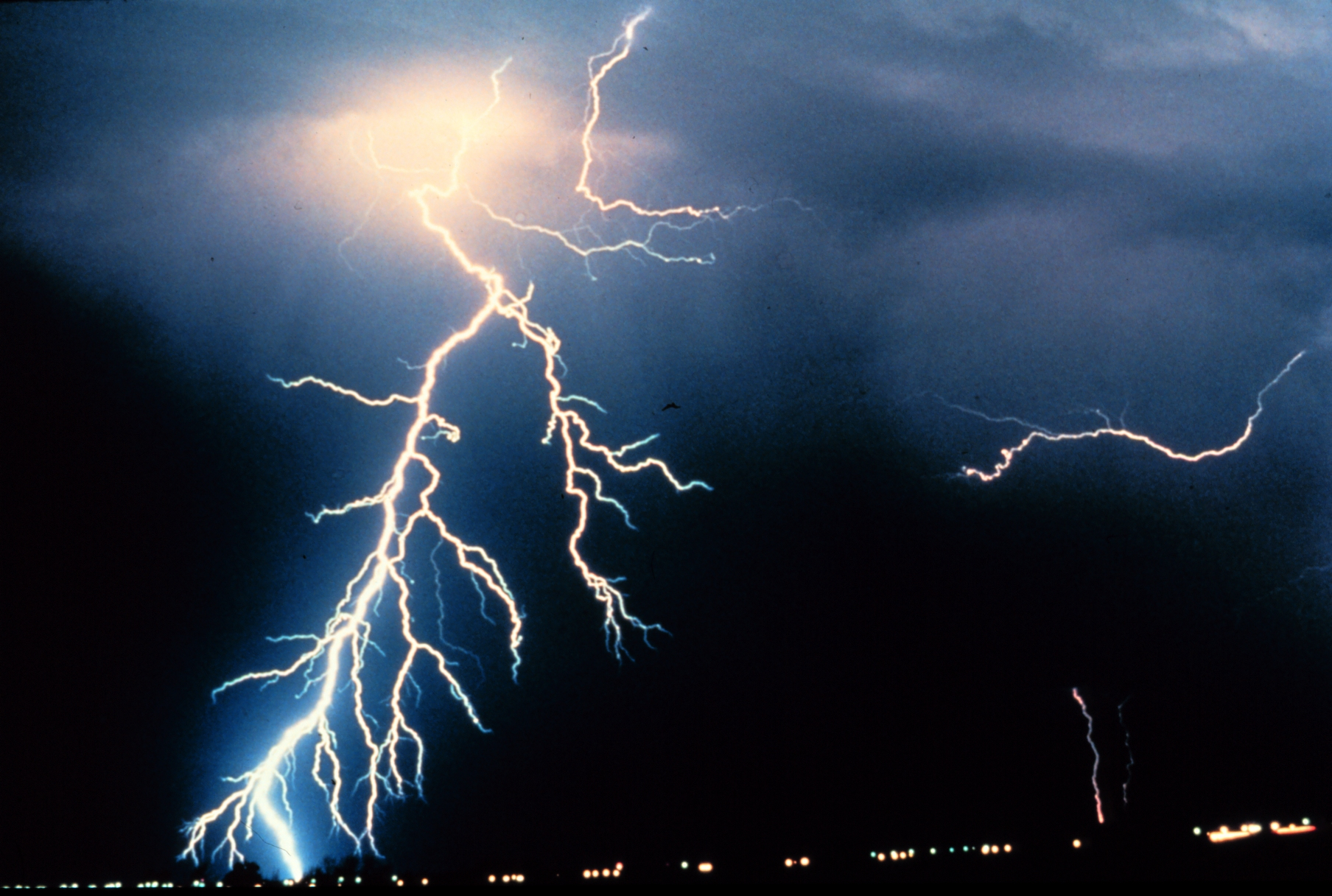 Image of dramatic lightning strike. Credit: NOAA Photo Library, NOAA Central Library; OAR/ERL/National Severe Storms Laboratory (NSSL)