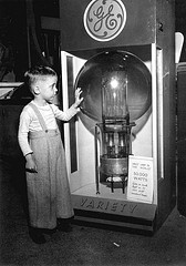 Boy with lightbulb