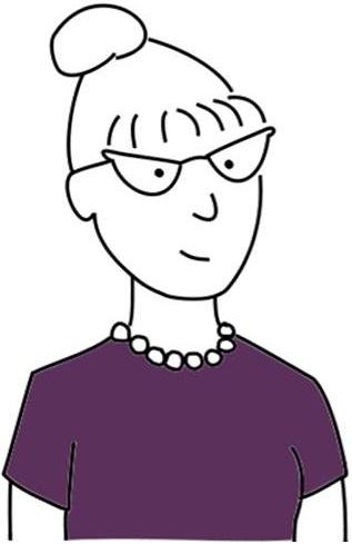 Librarian comic illustration