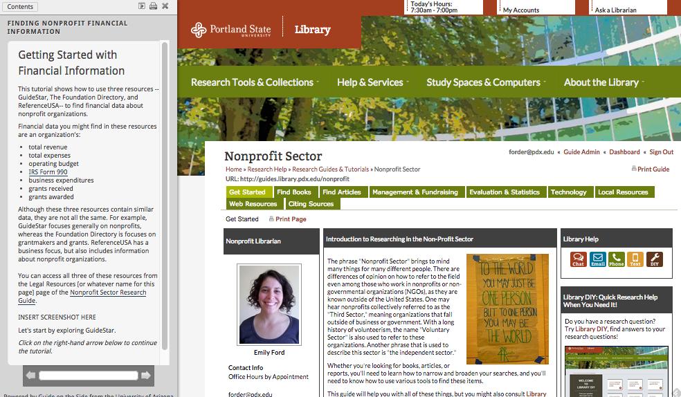 Finding Nonprofit Financial InformationTutorial Screenshot