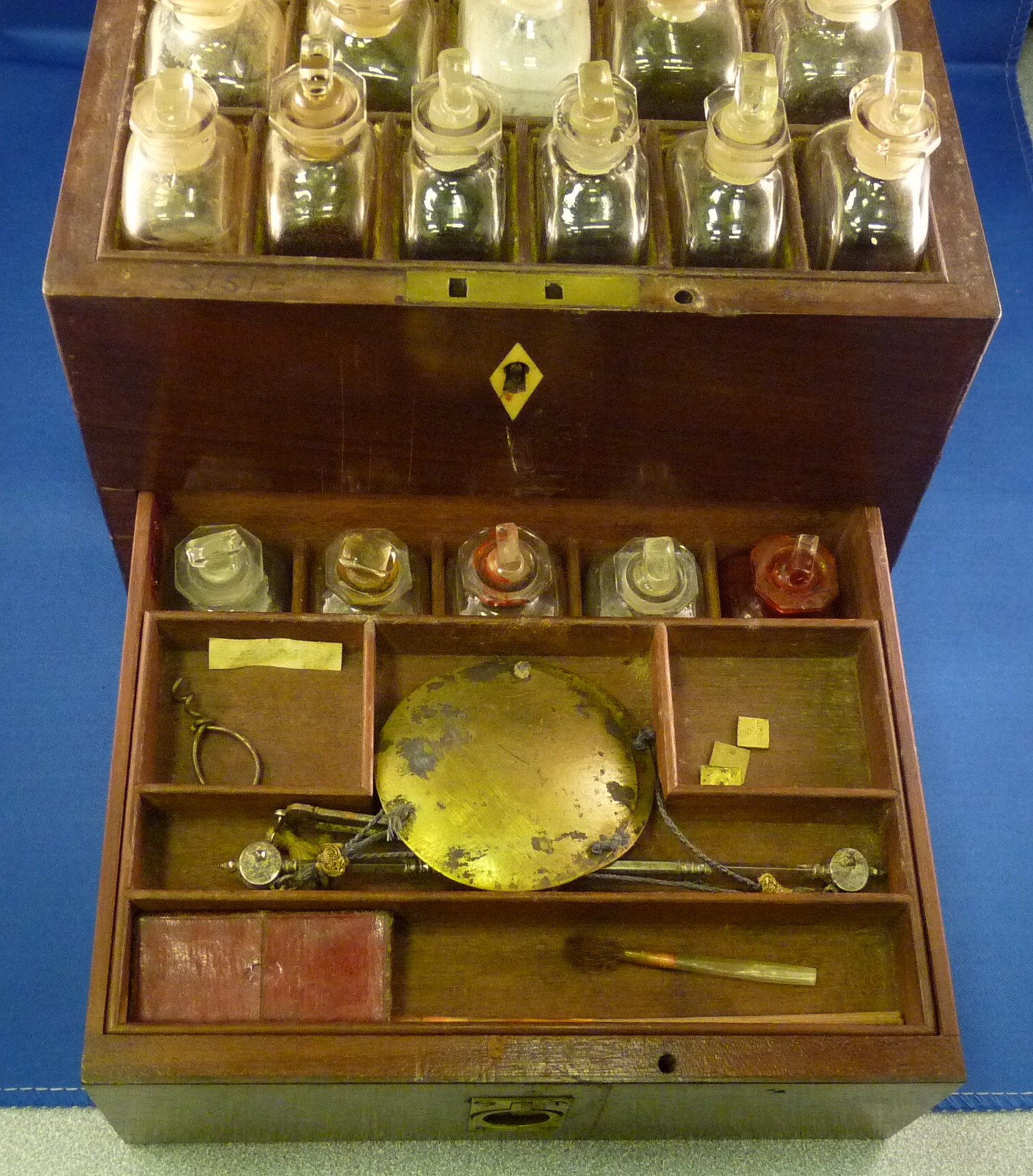 medicine chest and scales