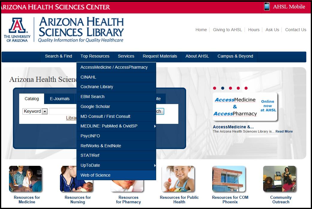 AHSL Homepage