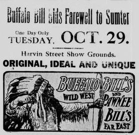 Buffalo Bill Bids Farewell to Sumter