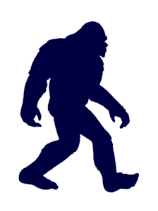 Dark purple Bigfoot silhouette