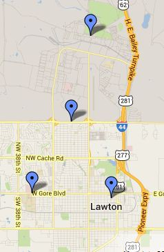 Lawton Local Libraries Map