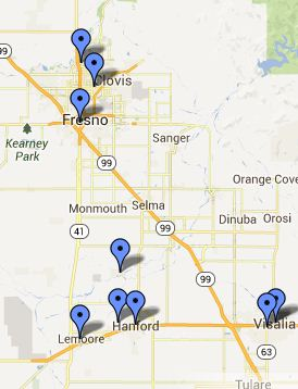 Lemoore Local Libraries Map
