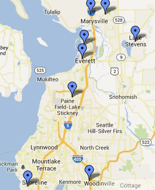 Everett-Marysville Small Map